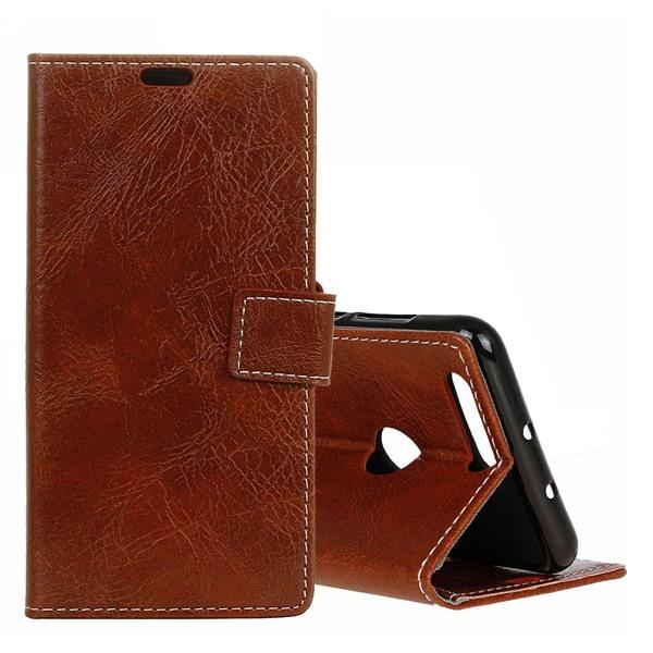 Plånboksfodral för Huawei Honor View 20 - Med eget ställ Brun