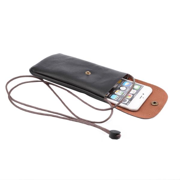 Stor mobilväska med kortplats - Svart svart