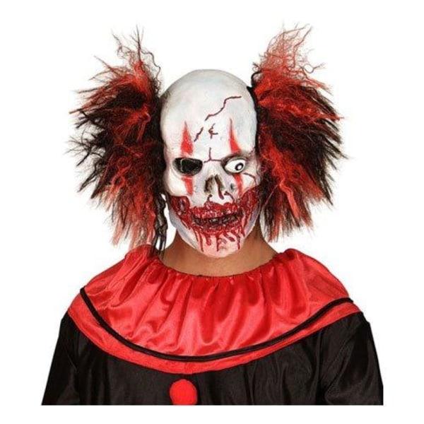 Blodig Clownmask med Hår