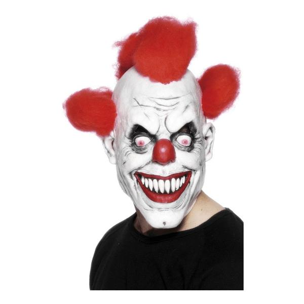 Läskig Clownmask Med Hår