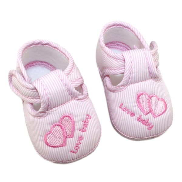 3 Colors Newborn Cotton Hasp Soft Shoes sole Skidproof 0-18M Blue 7-12Months