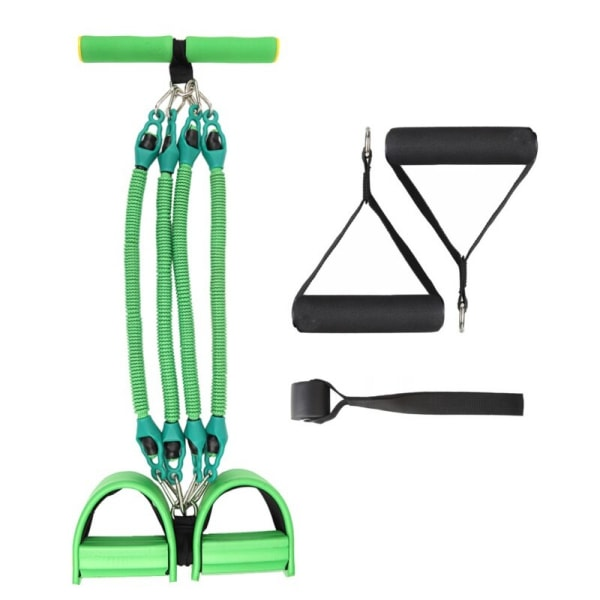 4 slangar Elastiska dragrep pedalmotståndsband träningsverktyg