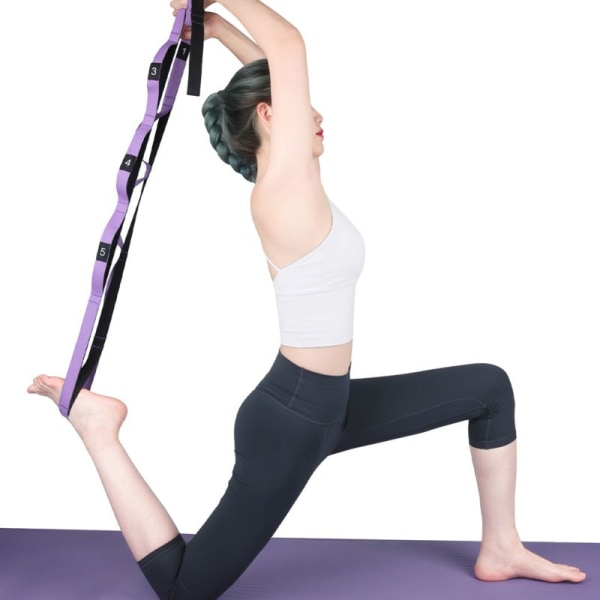 Aerial Yoga Stretch Strap Anti-Gravity Rope With Grip Loops