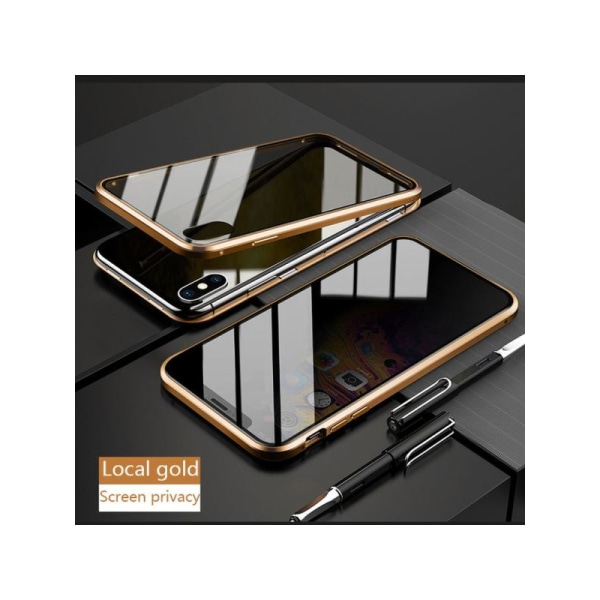 Anti-peep Magnetic double-sided glass phone case for iphone 11 GOLD iphone 11