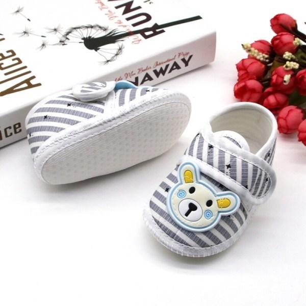 Baby bear stripes casual cartoon cotton shoes non-slip C 6-12 month