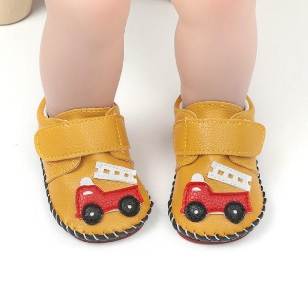 Baby boy cartoon car Rrubber-soled non-slip toddler shoes White 6-12Months