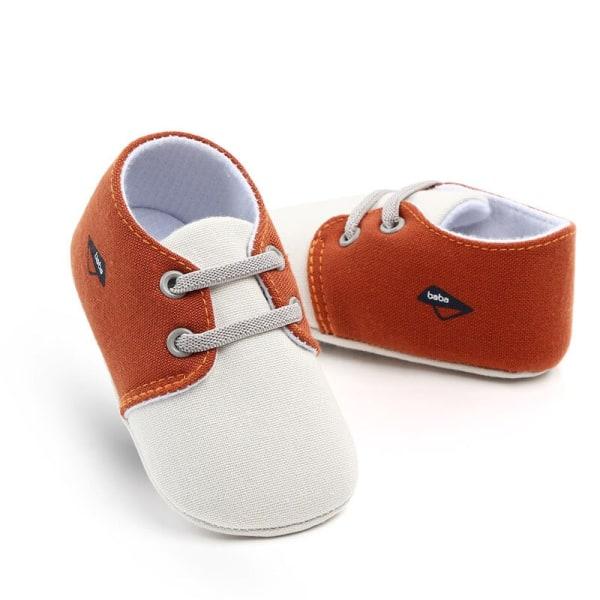 Baby klassisk canvas bomulls söta sömmar skor