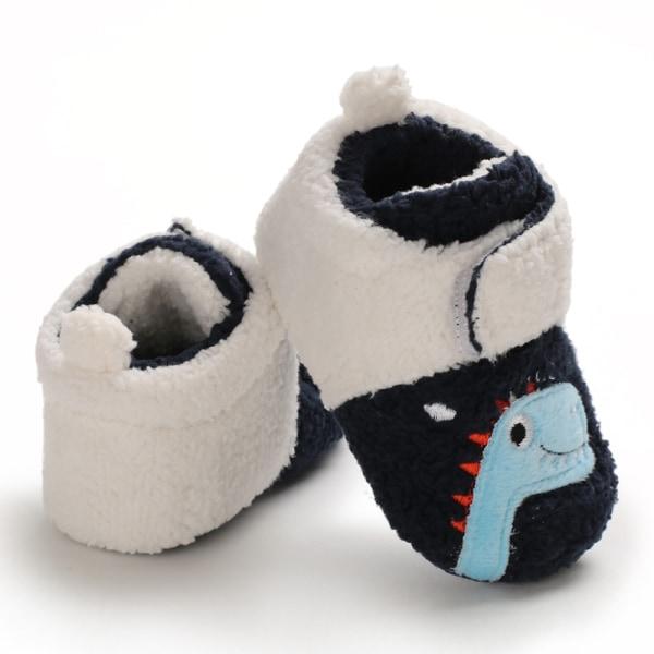 Baby cute cartoon asymmetric printing non-slip toddler shoes I 12-18Months