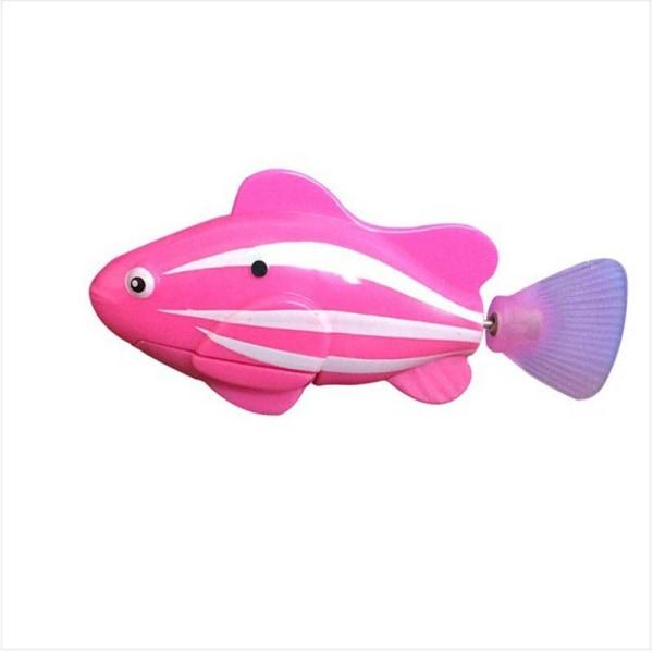 Baby elektriska fiskleksaker Float Squeeze Water Spraying