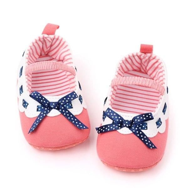 Baby flicka bowknot prinsessan grunda mjuka sål småbarn skor