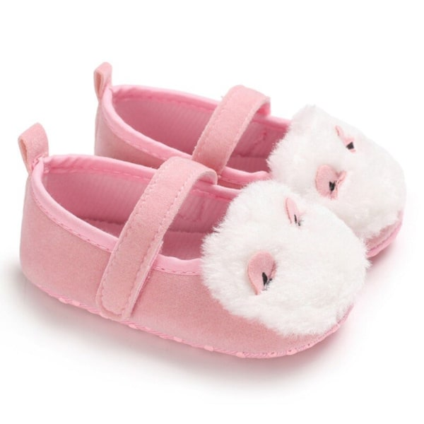 Baby Girl Furry Design Anti-Slip Toddler ShoesSoft Soled