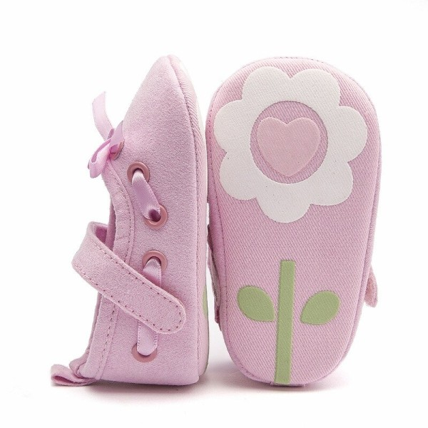 Baby Girl Riband Bow Lace Up PU Leather Princess Shoes J 6-9M