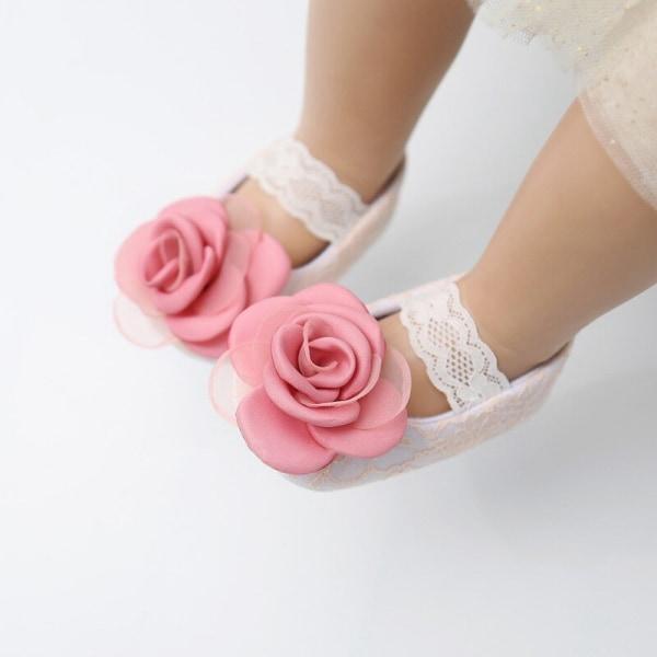Baby Girl Riband Lace Floral Up PU Leather Princess Princess