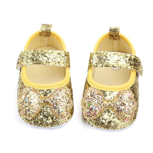 Baby Girls Princess Shoes Sequins PU Leather Soft Bottom Shoes J 13-18Months