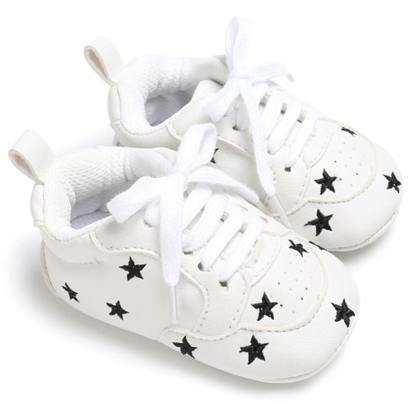 Baby lace-up casual soft-soled non-slip toddler shoes B 0-6Months