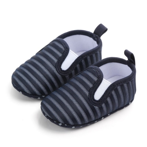 Baby Mesh Soft Soled Non-slip Causal Toddler Shoes navy blue 9-12M
