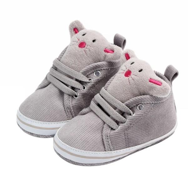 Baby Sneaker Sport Bomullsskor Mjuk botten Anti-halk