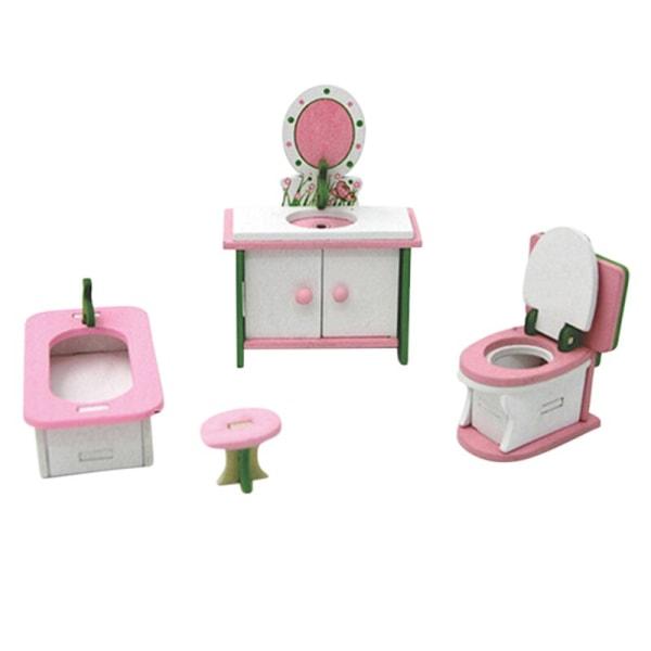 Baby träleksak miniatyrhusmöbler Barngåva