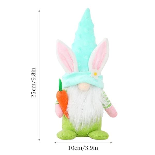 Morot Easter Bunny Gnome Dekoration Ansiktsfri docka