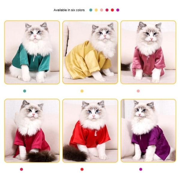 Katt T - shirt tunn ull silke vindkläder