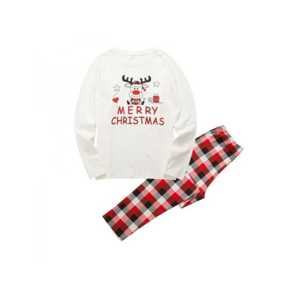 Jultecknad föräldra-barndräkt Pläd vinterbomullspappa