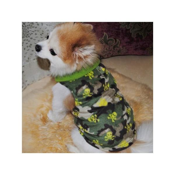 Jul fleece hund västar varma söta nyår kläder