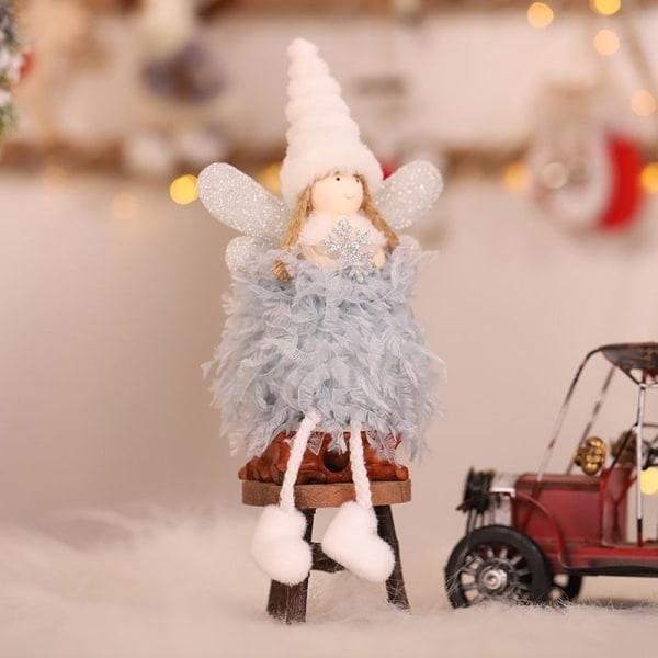 Christmas Tree Decorations Plush Angel Doll Elf Pendant Pink Stand
