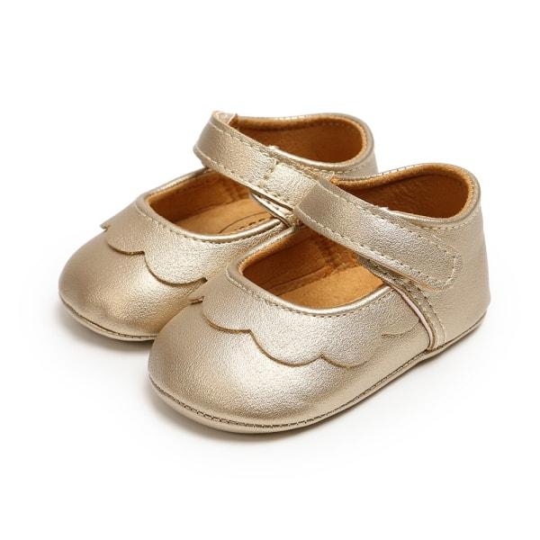 Classic all-match PU princess toddler shoes B 7-12Months