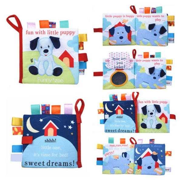 Tygböcker Spädbarn Djurmönster Baby Cognition Toys