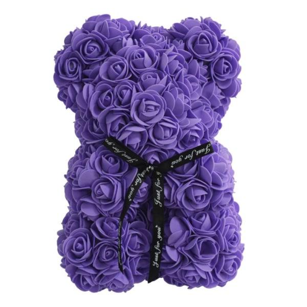 Kreativ Rose Flower Bear Ring Necklace Set Bästa semestergåva