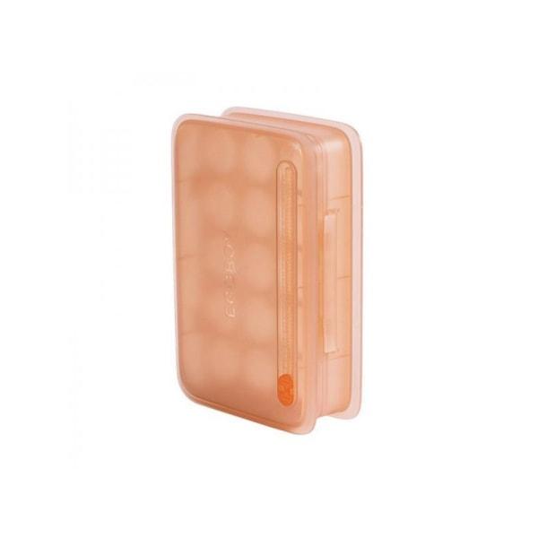 Egg Storage Box Kitchen Fresh-keeping Stackable Storage With Lid Orange