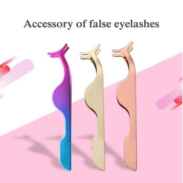 False Eye Lash Applicator Extension Tweezers Remover A3