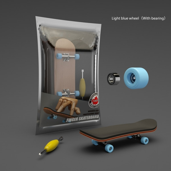 Finger SkateBoard med lager Träfingerboard nyhet leksak