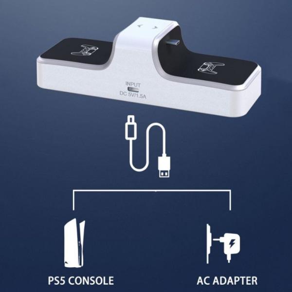 För PS5 Dual Controller laddningsbas utan batteri