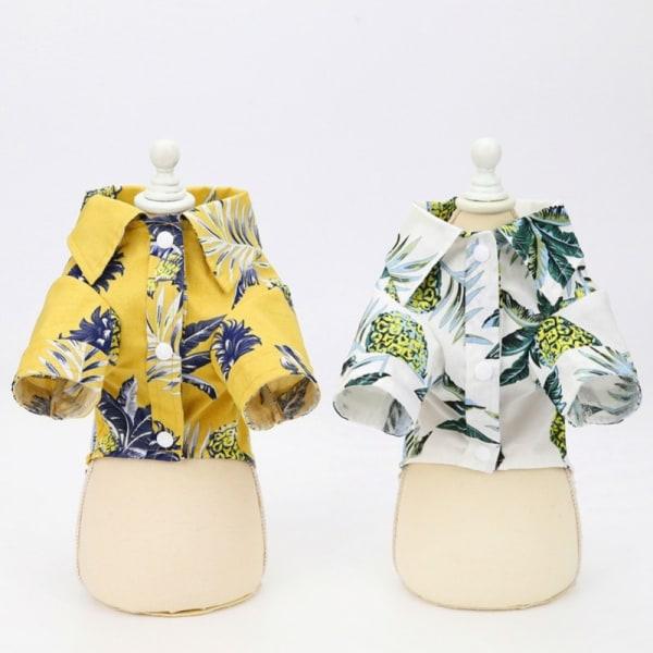 Hawaiian Shirts Pet Dog Vest Tunna kläder