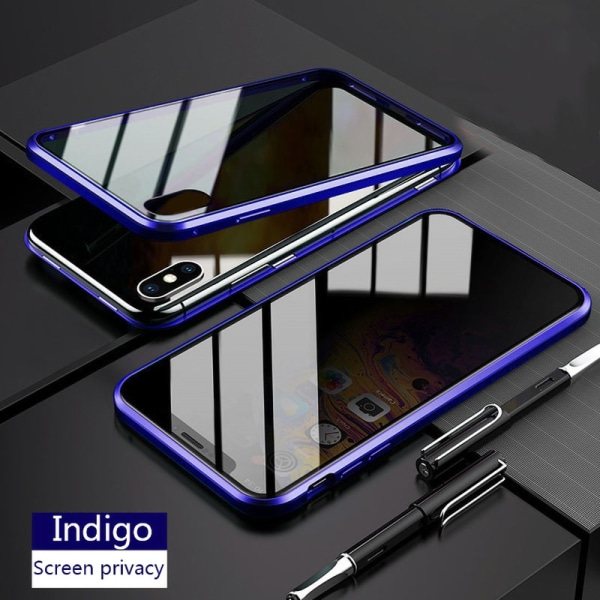 iphone 11 Pro case Anti-peep Magnetic double-sided glass case Blue iphone 11 Pro