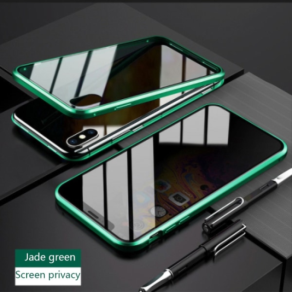 iphone 11 Pro max case Anti-peep Magnetic double-sided glass GREEN iphone 11 Pro Max