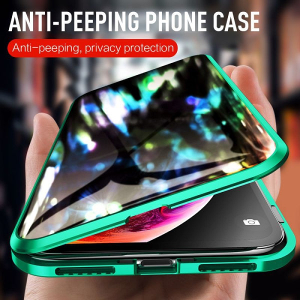 Anti-peep Magnetic double-sided glass phone case for iphone 6 6s Black iphone 6 6s