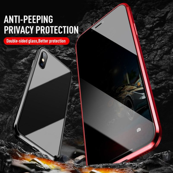 iphone 11 Pro case Anti-peep Magnetic double-sided glass case Black iphone 11 Pro
