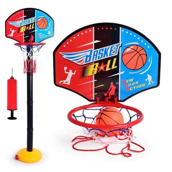 Kids Plastic Basketball Stand Indoor Outdoor Interaction Toy as show