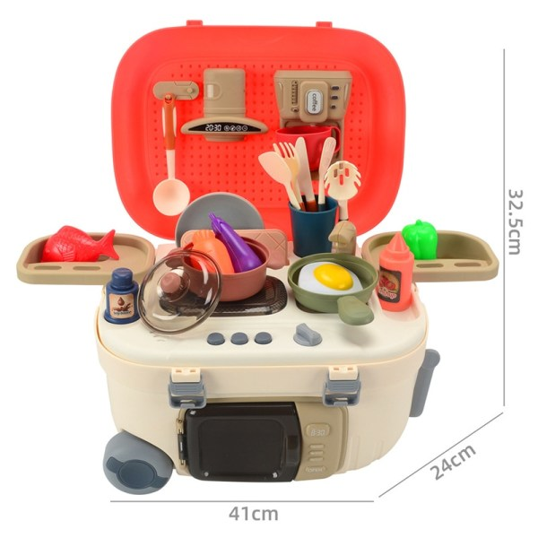 Köksleksakssats Analog spraydisk med rinnande vatten och andra