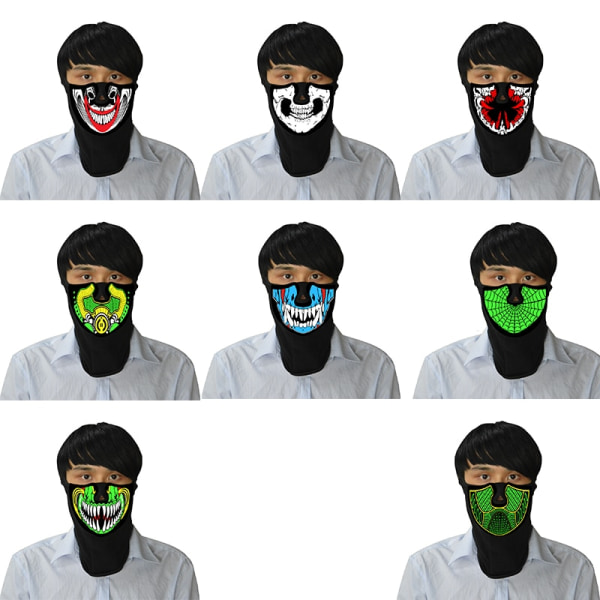 LED Masks Sound Controlled Luminescence Terror Festival Party A2