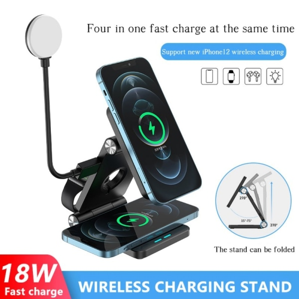 Magsafe 4-in-1 Universal Magnetic Wireless Charger 18W for iphone 12