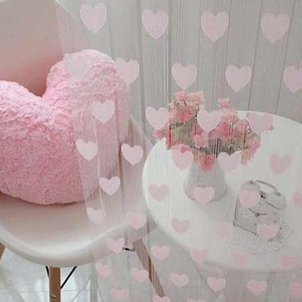 Novelty Heart Decor Window Room Line Curtain String Tassel