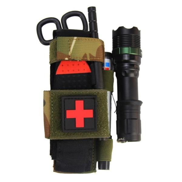 Utomhus första hjälpen verktyg ficklampa sax hängande väska