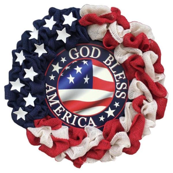 Patriotisk kransvägg heminredning för amerikanska självständighetsdagen