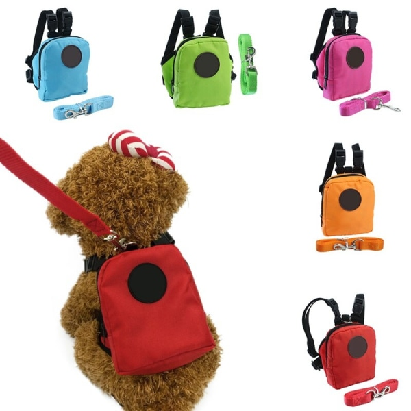 Pet Dog Cat Self Backpack Leash Set Mini Outdoor Accessories