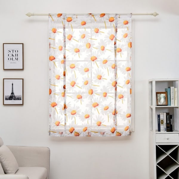 """Short Sheers Gauze Roman Curtains Home Decoration as the picture show 23.62x47.24"""""""