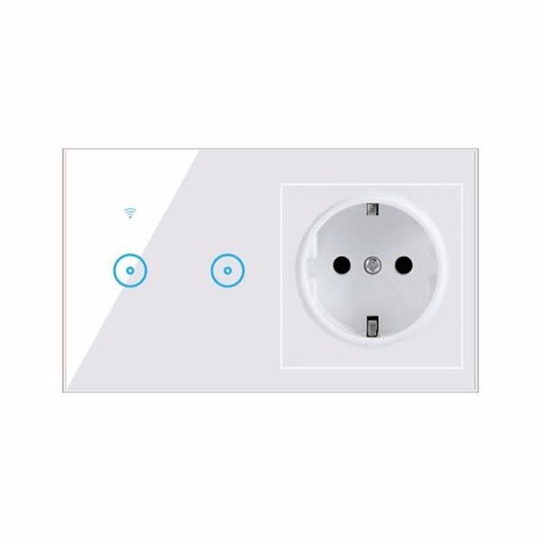 Smart Light Switch Panel Wall 1/2/3 Gang Socket