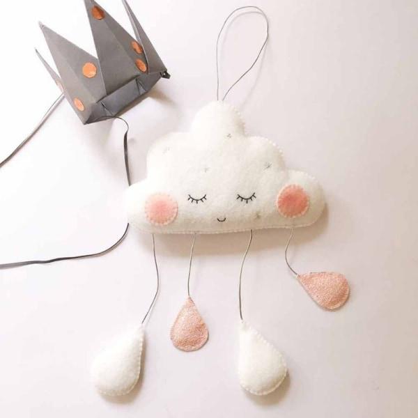 Smiles Cloud Raindrops Garland Baby Room Wall Decorations